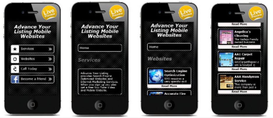 Mobile Websites Available